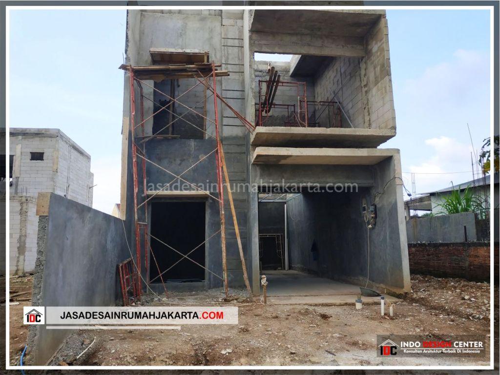 Tampak Depan Rumah Bpk Tito-Arsitek Gambar Desain Rumah Minimalis Modern Di Bekasi-Jakarta-Surabaya-Tangerang-Jasa Konsultan Desain Arsitek Profesional 2
