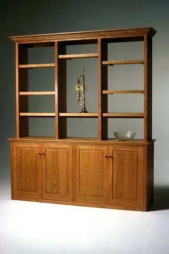 Bookcase Hutch Bookcase Credenza Cherry Hutch