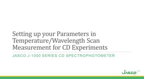 CD Temp Wavelength Scan