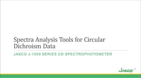 Spectra Analysis Tools