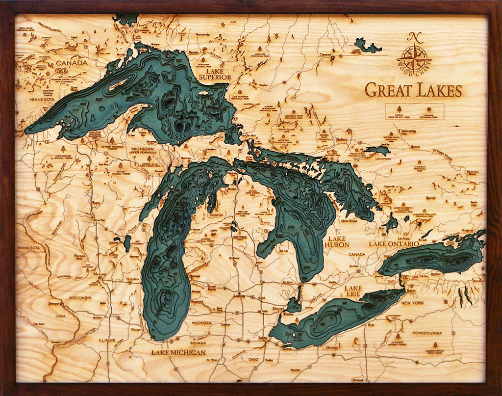 Great Lakes Wood Chart Grl D3l