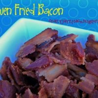 Oven Fried Bacon