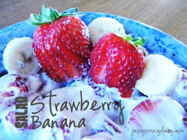 Delicious Strawberry Banana Salad