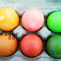 Easy Southwestern Colored Easter Eggs