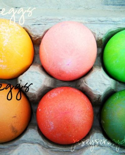 Easy Southwestern Colored Easter Eggs