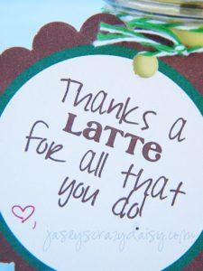 Thanks a latte printable tag