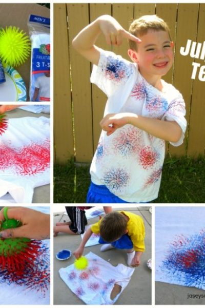 4th of July Shirts {How to make FIRECRACKER T-Shirts}