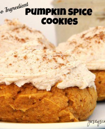 Two Ingredient Pumpkin Spice Cookies