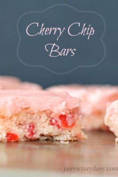 Homemade Cherry Chip Bars