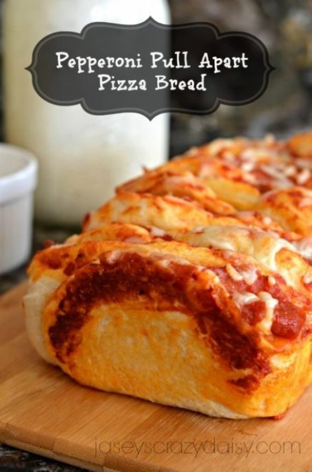Pull Apart Pepperoni Pizza Bread