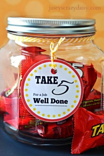 Take 5 Printable Appreciation Gift Tags