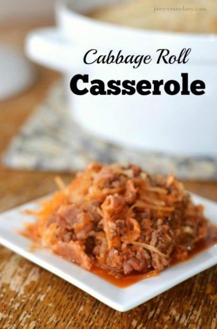 Unstuffed Cabbage Roll Casserole
