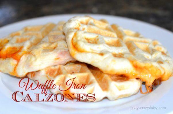 stuffed pizza, calzones, waffle pizza, waffle iron pizza