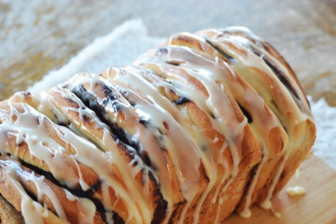 Easy Chocolate Cinnamon Roll Loaf
