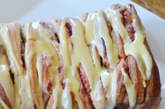 Delicious Orange Raspberry Pull Apart Bread