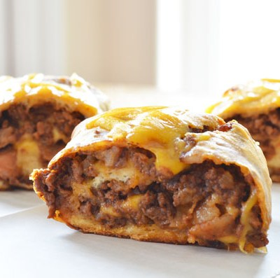 Bacon Cheese Burger Barbecue Roll Ups