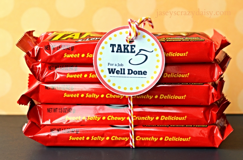 Take 5 For a Job Well Done Appreciation Gifts - Jasey's ...
