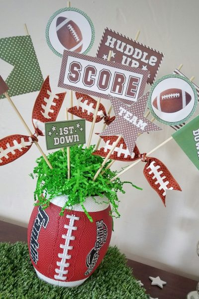 Green and Brown Football Pennant Printables