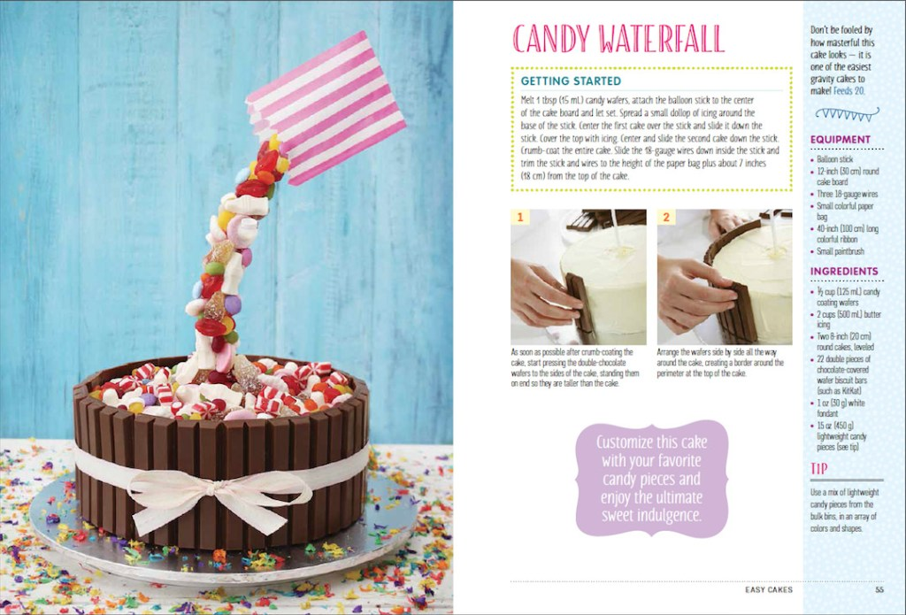 How To Make A Candy Water Fall Cake