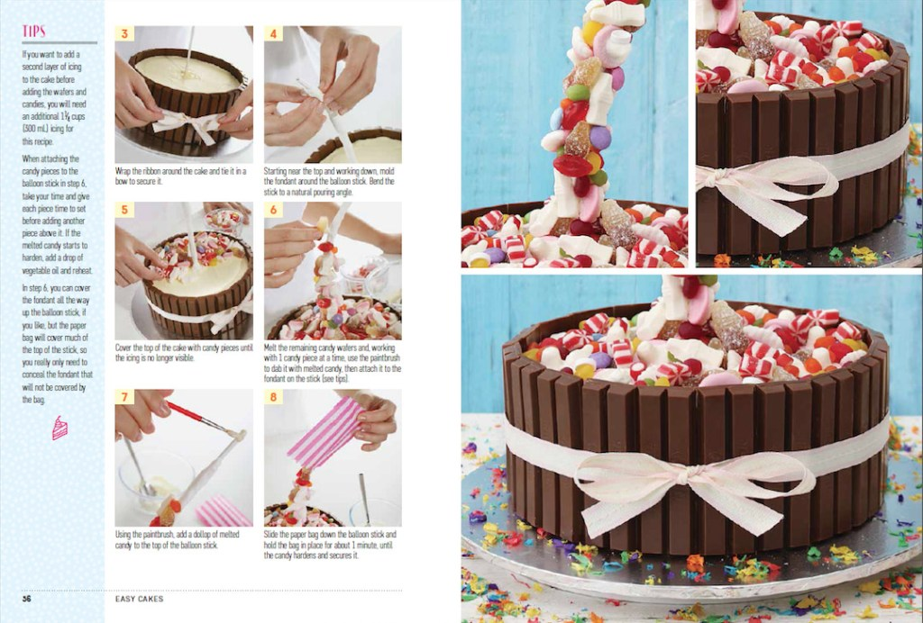 How To Make Candy Water Fall Cakes