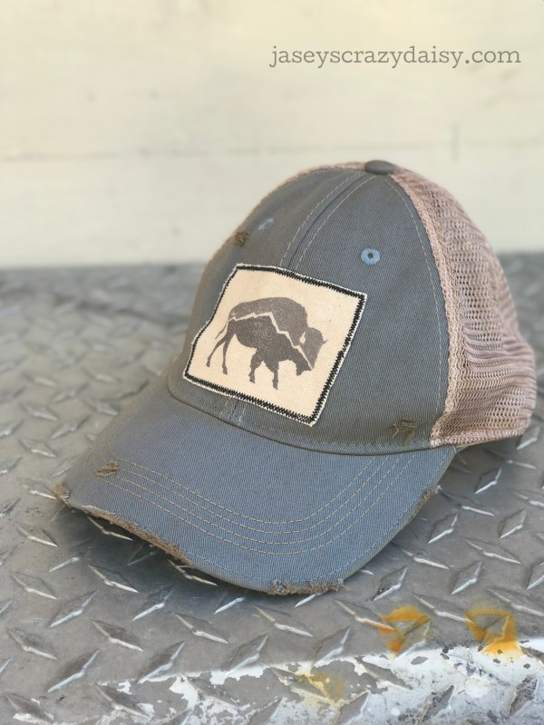 distressed mountain buffalo hat