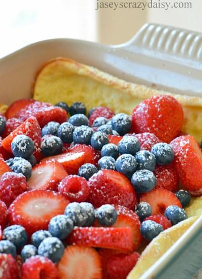 Delicious Wild Berry Puff Pancake