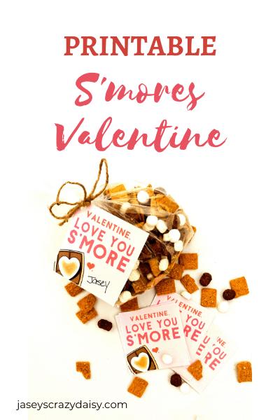 Printable S'mores Valentine