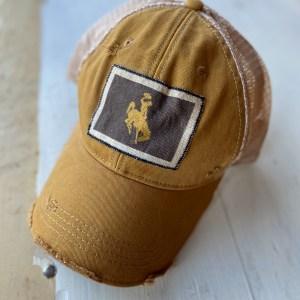 Gold Bucking Horse Hat