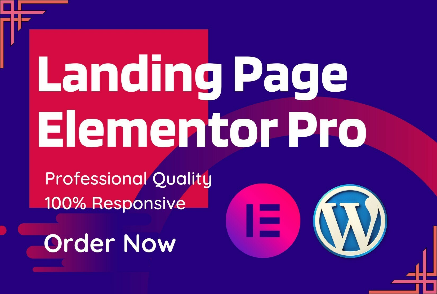 30% off Now. I will design a landing page with Elementor pro