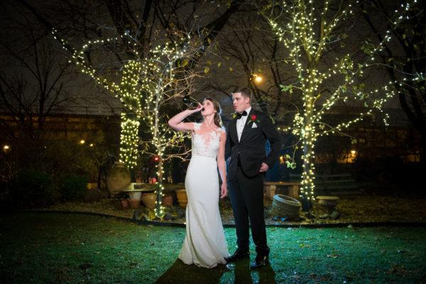 galleria marchetti december wedding bride and groom