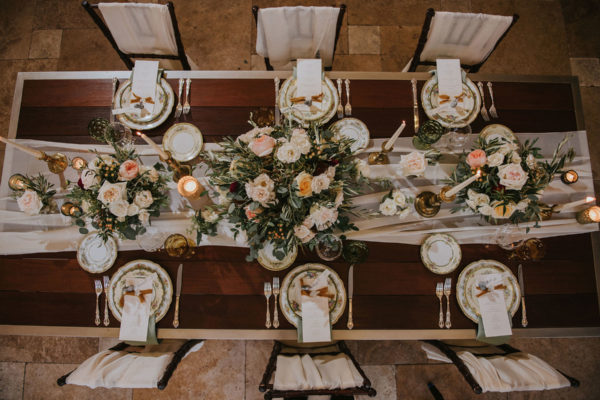 italian tuscany themed wedding at galleria marchetti