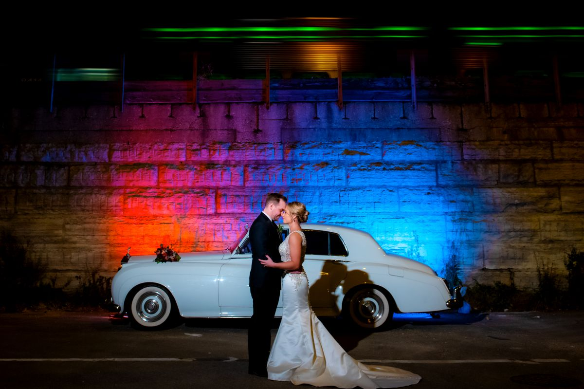 classic car photoshoot chicago wedding
