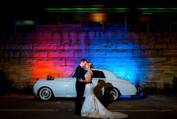 classic car photoshoot chicago wedding