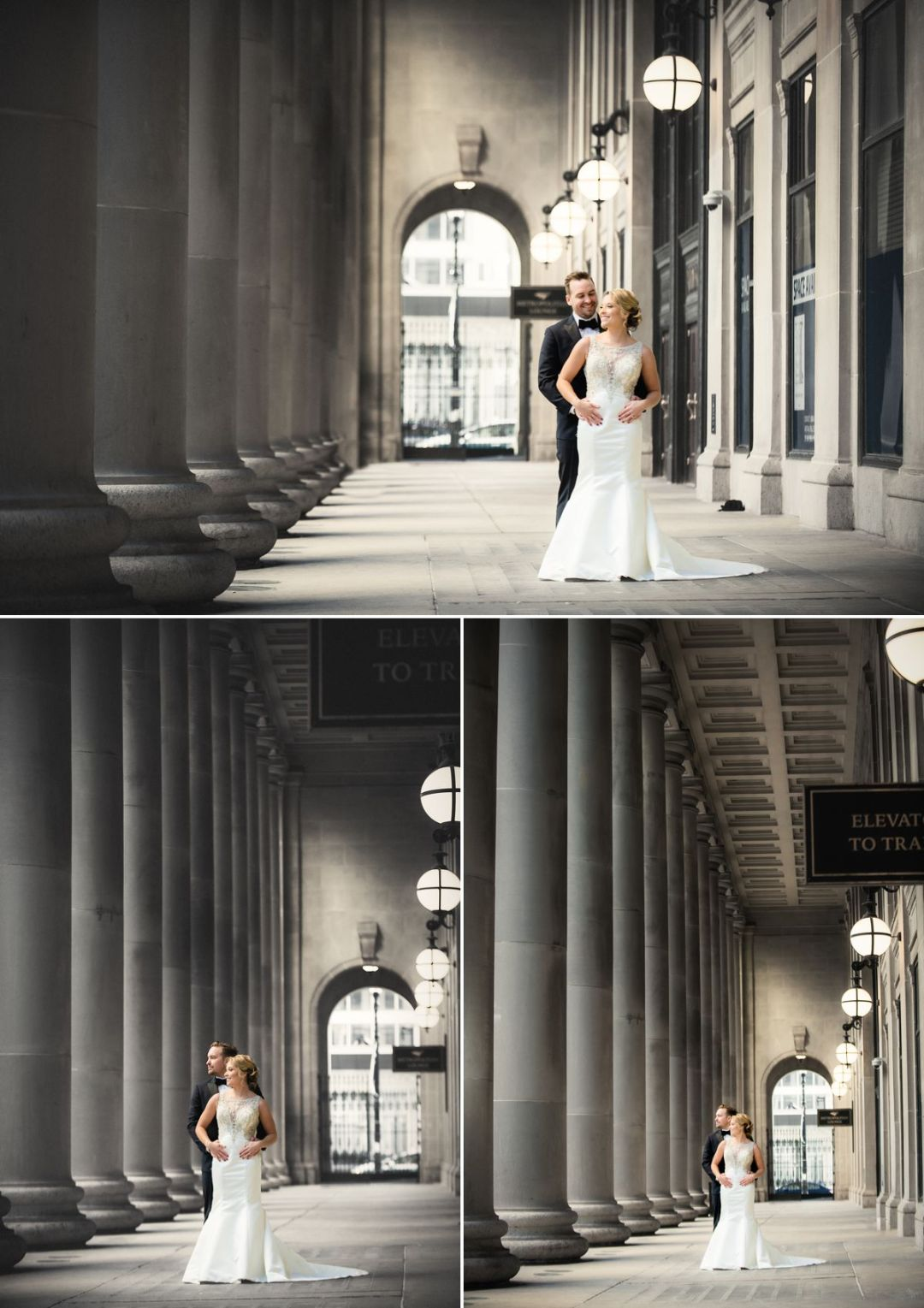 union station wedding portraits in chicago