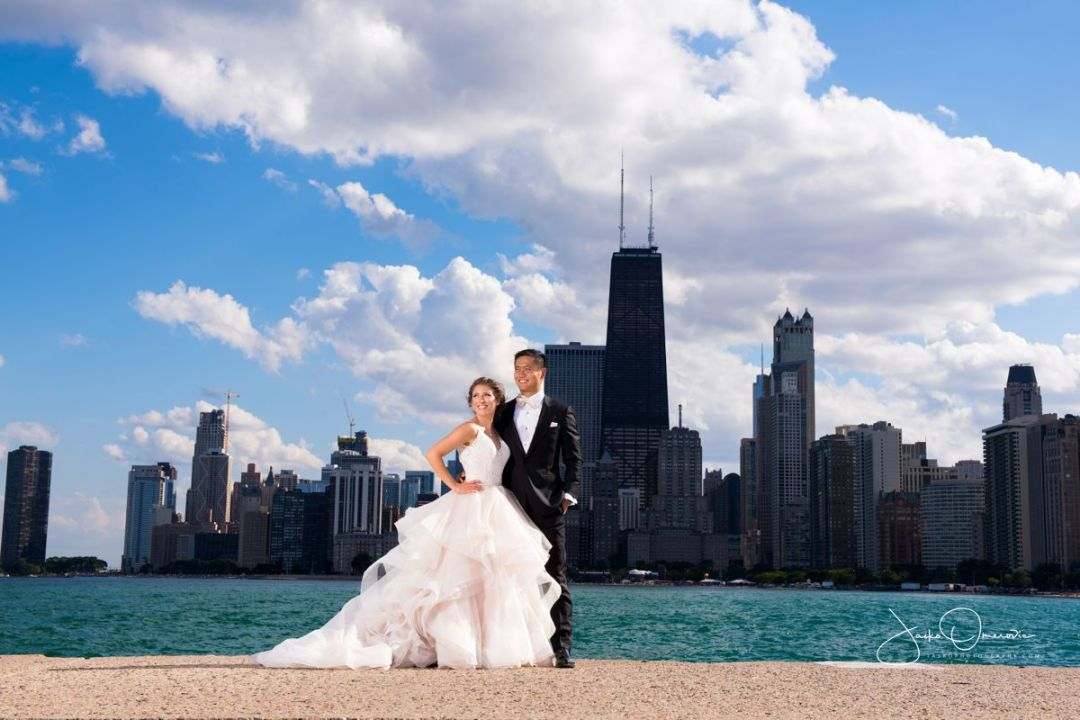 chicago wedding photography beach portrait north ave