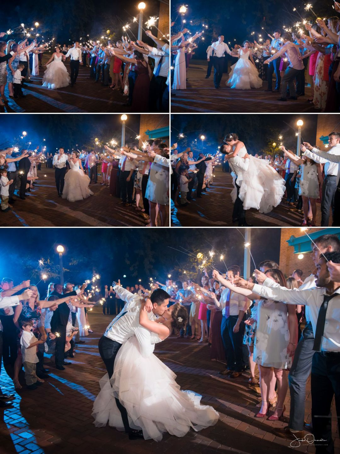 sparkler send off wedding chicago