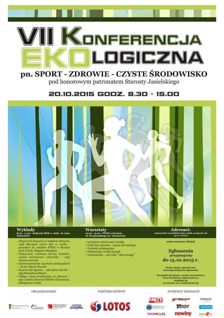 Plakat VII Konferencja ekologiczna