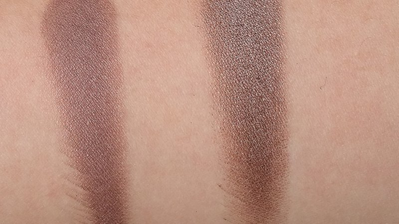 Links: Shale. Rechts: Satin Taupe.
