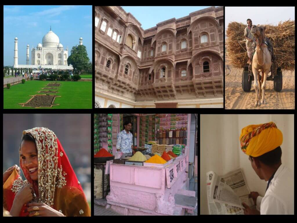 Travel to India for the first time collage 1