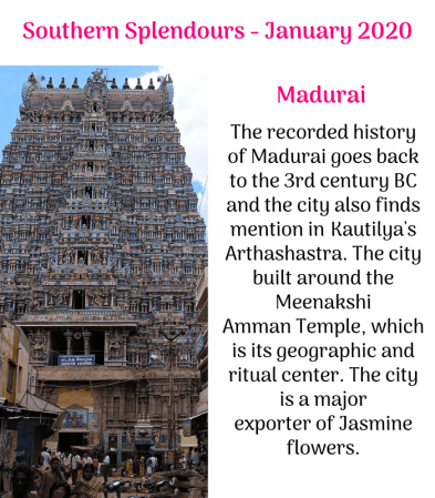 Jasmine Trails Southern Splendours Tour January 2020 - Image 7 Madurai