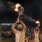Ganga Aarti Varanasi by Cathryn Evans Vraspir