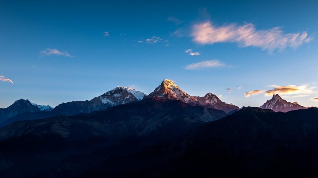 Annapurna range as seen from Pokhara in Nepal