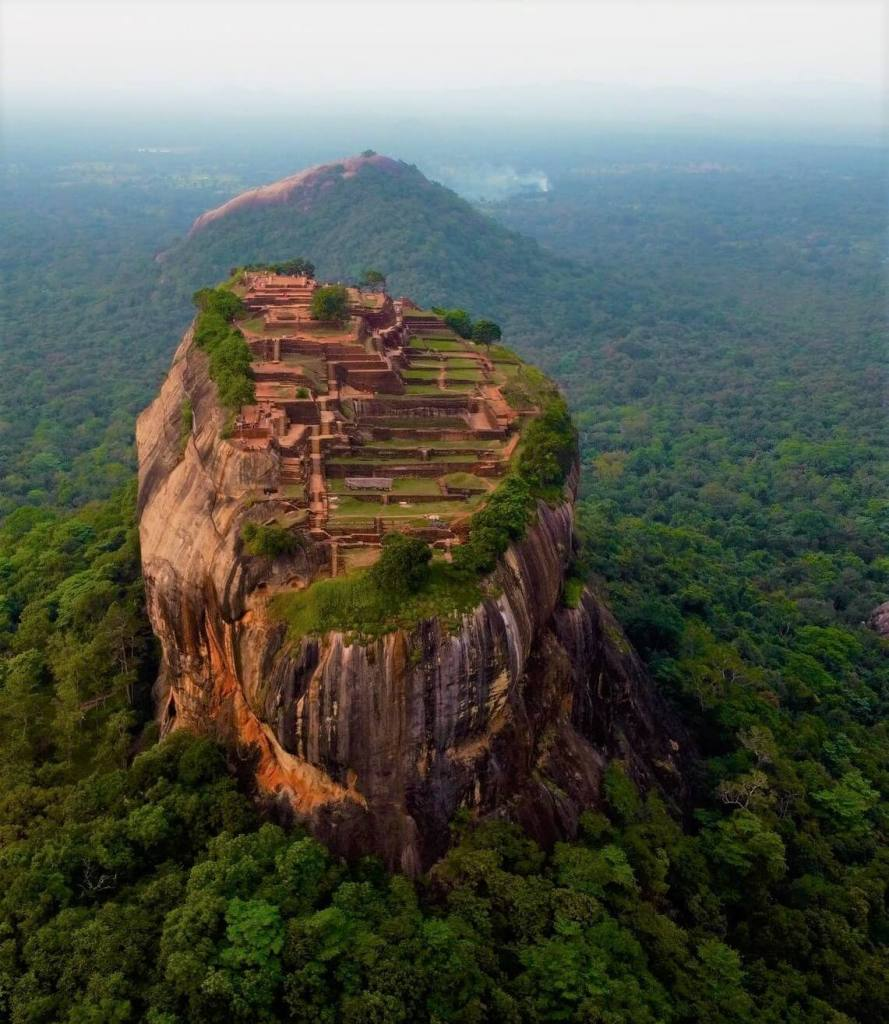 Sigiriya Fortress, aerial view Sri Lanka
