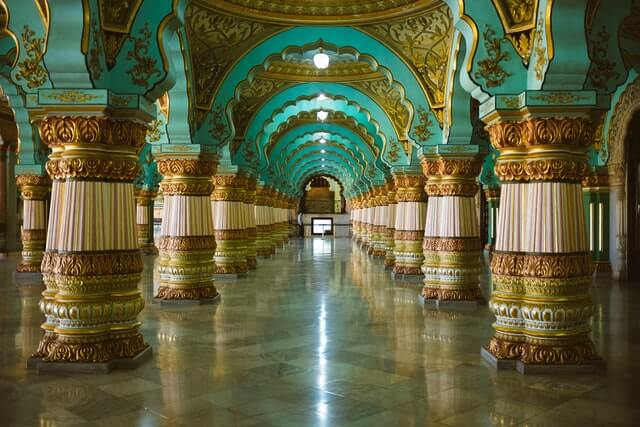 The heart of the Deccan Mysore Palace interior
