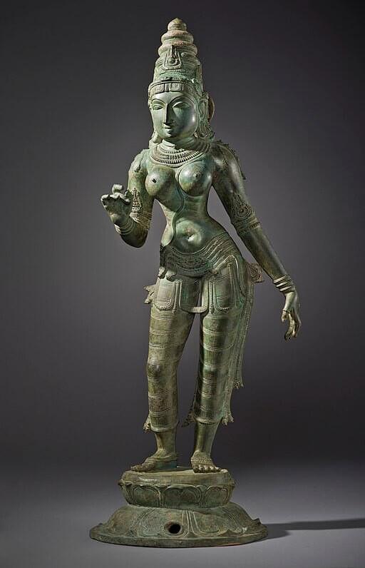 13th century Sculpture Copper alloy, Tamil Nadu