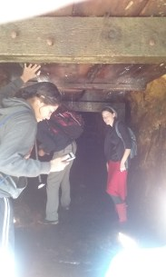 We found a cool little mining shaft from when there used to be a town there