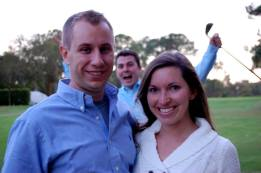 David, Kelly's brother, and his wife Tracy . . . and a photobomber.