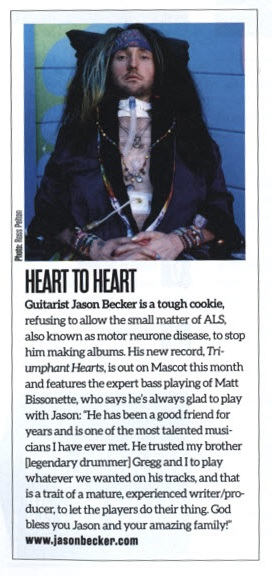 Matt Bissonette Comments on Jason Becker in Bass Magazine