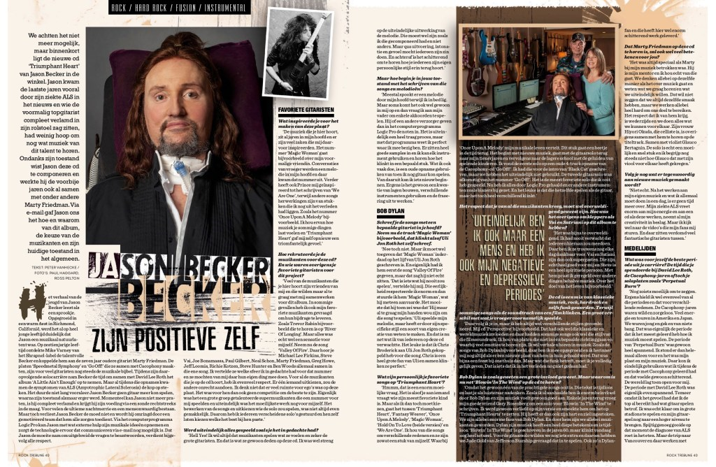 BE - Becker - Rock Tribune - 3 page feature - October 2018