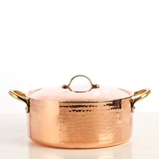 5400-24-copper-pot-with-lid-hammered-finish-square